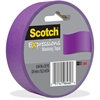 "Scotch Expressions Masking Tape - 0.94"" Width x 60 ft Length - Writable Surface, Easy Tear - 1 Roll - Purple"