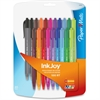 Paper Mate InkJoy 100 RT Pens - Medium Point Type - 1 mm Point Size - Conical Point Style - Black, Blue, Brown, Green, Lime, Magenta, Orange, Purple, Red, Turquoise - Transparent Black, Transparent Bl