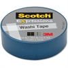 "Scotch Expressions Washi Tape - 0.59"" Width - 1.25"" Core - Acrylic Backing - Easy Tear, Repositionable, Writable Surface, Light Duty - 1 Roll - Blue"