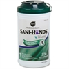 Nice-Pak Nice Pak Sani-Hands Instant Hand Sanitizing Wipes - Wood Pulp, Cellulose, Tencel - Eco-friendly, Biodegradable - 300 Sheets Per Canister - 6 / Carton