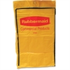 "Rubbermaid Commercial Cleaning Cart Replacement Bag - 20.15 gal - 10.50"" Width x 17.20"" Length - Yellow - Vinyl - 1Each - Janitorial Cart"