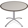 "Iceberg Dura-Comfort Edge Round Table - Round Top x 42"" Table Top Diameter - 29"" Height - Gray, Laminated - Particleboard"