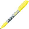 Sharpie Neon Fine Tip Permanent Markers - Fine Point Type - Neon Yellow - 12 / Box