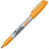 Sharpie Neon Fine Tip Permanent Markers - Fine Point Type - Neon Orange - 12 / Box