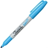 Sharpie Neon Fine Tip Permanent Markers - Fine Point Type - Neon Blue - 12 / Box