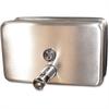 Genuine Joe 40oz Soap Dispenser - Manual - 40 fl oz (1183 mL) - Stainless Steel
