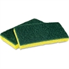 "Impact Products Light Duty Scrubber Sponge - 0.9"" Height x 3"" Width x 6.3"" Length - 5/Pack - Cellulose - Yellow, Green"