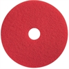 "Impact Products Red Spray Buffing - 14"" Diameter - 5/Carton - Fiber - Red"