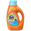 Tide Plus Downy Detergent - Liquid Solution - 0.36 gal (46 fl oz) - Clean Breeze ScentBottle - 1 / Bottle - Orange