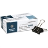 Business Source Binder Clip - Small - for Paper - 144 / Box - Black - Tempered Steel, Nickel Plated