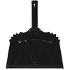 "Genuine Joe Scope Dust Pan - 12"" Wide - Metal - Black"