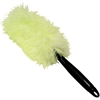 "Microfiber Technologies Microfiber 2-in-1 Hand-Held Duster - 20"" Overall Length - 1 Each - MicroFiber - Green, Black"
