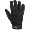 ProFlex Thermal Waterproof Utility Gloves - 8 Size Number - Medium Size - MicroFiber, Synthetic Leather Palm, Woven Cuff, Spandex Back, Neoprene Knuckle, Terrycloth Thumb - Black - Water Proof, Thinsu
