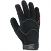 Utility Gloves - 10 Size Number - X-Large Size - Woven Cuff, Terrycloth Thumb, Synthetic Leather Palm - Black - Elastic Cuff, Reinforced Fingertip, Breathable, Air Vent, Durable, Comfortable -