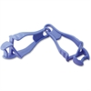 Ergodyne Squids Grabber Clip - for Cloth, Carpentry, Mining, Gloves, Multipurpose, Roofing, Construction - Detachable, Durable, Lightweight, Non-conductive - 1 Pack - Blue - Copolymer