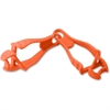 Ergodyne Squids Grabber Clip - for Cloth, Carpentry, Mining, Gloves, Multipurpose, Roofing, Construction - Detachable, Durable, Lightweight, Non-conductive - 1 Pack - Orange - Copolymer