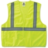 GloWear Lime Econo Breakaway Vest - 2-Xtra Large/3-Xtra Large Size - Polyester Mesh - Lime - 1 / Each