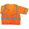 GloWear Ergodyne GloWear Class 3 Orange Economy Vest - Small/Medium Size - Polyester Mesh - Orange - 1 / Each