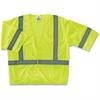 GloWear Ergodyne GloWear Class 3 Lime Economy Vest - 2-Xtra Large/3-Xtra Large Size - Polyester Mesh - Lime - 1 / Each