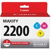 Canon PGI-2200 CMY Ink Cartridge - Cyan, Magenta, Yellow - Inkjet - Standard Yield - 700 Page (Per Cartridge) - 3 / Pack