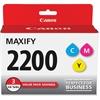 Canon PGI-2200 CMY Original Ink Cartridge - Cyan, Magenta, Yellow - Inkjet - Standard Yield - 700 Page (Per Cartridge) - 3 / Pack