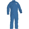 Kimberly-Clark A20 Particle Protection Coveralls - Extra Large Size - Flying Particle, Contaminant, Dust Protection - Blue - 24 / Carton