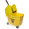 Impact Products Pressure Wringer/Bucket Combo - Plastic, Polypropylene, Polyethylene - Yellow