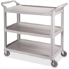 "Impact Products 3-Shelf Bussing Cart - 3 Shelf - 200 lb Capacity - 4"" Caster Size - 40"" Length x 20"" Width x 38"" Height - Gray"