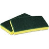 """Impact Products Cellulose Scrubber Sponge - 0.9"""" Height x 3"""" Width x 6.3"""" Length - 48/Carton - Cellulose - Yellow, Green"""