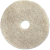 "Impact Products 27"" Natural Floor Pad - 27"" Diameter - 5/Carton - Fiber - Natural"