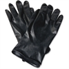 NORTH Butyl Chemical Protection Gloves - Chemical Protection - 10 Size Number - Butyl - Black - Water Resistant, Durable, Chemical Resistant, Ketone Resistant, Rolled Beaded Cuff, Comfortable, Abrasio