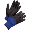 NORTH Northflex Cold Gloves - Coated - Weather Protection - Medium Size - Nylon Shell, Polyvinyl Chloride (PVC) Palm, Polyamide, Synthetic Liner, Foam - Red - Heavyweight, Insulated, Flexible, Shock A