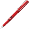 Lamy Safari Fountain Pen - Fine Point Type - Refillable - Blue - Red ABS Plastic Barrel - 1 Each