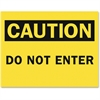 Safety Sign Inserts-Caution Do Not Enter - 6 / Pack - Do Not Enter Print/Message - Rectangular Shape - Yellow, Black Print/Message Color - Tear Resistant, Water Proof, Easy Installation, Stur
