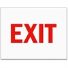 Tarifold Magneto Safety Sign Inserts-Exit - 6 / Pack - Exit Print/Message - Red Print/Message Color - Tear Resistant, Easy Installation, Water Proof, Durable, Long Lasting, Sturdy - Paper - White