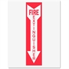 Safety Sign Inserts-Fire Extinguisher - 6 / Pack - Fire Extinguisher Print/Message - Red Print/Message Color - White, Red
