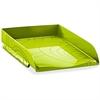 """CEP Letter Tray - 2.5"""" Height x 10.2"""" Width x 13.7"""" Depth - Desktop - Green - Polystyrene - 1Each"""