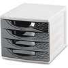 "CEP Desktop Module - 2000 x Sheet - 4 Drawer(s) - 10.4"" Height x 11.8"" Width x 14.5"" Depth - Desktop - White, Black - Polystyrene, Rubber - 1Each"