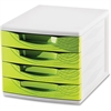 "CEP Desktop Module - 2000 x Sheet - 4 Drawer(s) - 10.4"" Height x 11.8"" Width x 14.5"" Depth - Desktop - White, Green - Polystyrene, Rubber - 1Each"