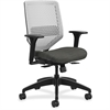 "HON Solve Seating Platinum Back Task Chair - Platinum Back - 5-star Base - Black - 29.8"" Width x 28.8"" Depth x 41.8"" Height"