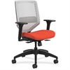 "HON Solve Seating Platinum Back Task Chair - Platinum Back - 5-star Base - Red - 29.8"" Width x 28.8"" Depth x 41.8"" Height"