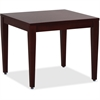 "Lorell Mahogany Finish Solid Wood Corner Table - Square Top - Four Leg Base - 4 Legs - 23.60"" Table Top Length x 23.60"" Table Top Width - 20"" Height x 23.63"" Width x 23.63"" Depth - Assembly Required"