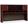 "Series C Mahogany 72W 2-door Hutch - 71.1"" x 15.3"" x 43.1"" - Drawer(s)2 Door(s) - Finish: Mahogany"