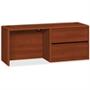 "HON 10700 Series Right Credenza - 72"" x 24"" x 29.5"" - Standard Drawer(s) - Single Pedestal - Square Edge - Material: Wood - Finish: Cognac, High Pressure Laminate (HPL)"