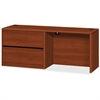 "HON HON 10700 Series Cognac Laminate Left-pedestal Credenza - 72"" x 24"" x 29.5"" - File Drawer(s) - Single Pedestal - Waterfall Edge - Material: Wood - Finish: Cognac, Laminate"