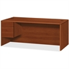 "HON HON 10700 Series Cognac Laminate Left-pedestal Credenza - 72"" x 36"" x 29.5"" - 2 x File Drawer(s), Box Drawer(s) - Single Pedestal - Waterfall Edge - Material: Wood - Finish: Cognac, Laminate"