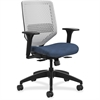 "HON Solve Seating Platinum Back Task Chair - Midnight Seat - Platinum Back - 5-star Base - 29.8"" Width x 28.8"" Depth x 41.8"" Height"