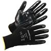 Honeywell Pure Fit Dipped General Gloves - Nitrile Coating - Medium Size - Synthetic Fiber, Nylon Liner - Black - Lightweight, Cut Resistant, Abrasion Resistant, Durable, Splash Resistant, Comfortable