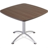 "Iceberg iLand 29""H Square Hospitality Table - Square Top - 36"" Table Top Length x 36"" Table Top Width x 1.13"" Table Top Thickness - 29"" Height - Assembly Required - Laminated, Teak - Particleboard"