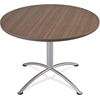 "Iceberg iLand Round Hospitality Table - Round Top - 1.13"" Table Top Thickness x 42"" Table Top Diameter - 29"" Height - Assembly Required - Laminated, Teak - Particleboard"
